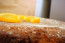 lemon polenta cake. All our cakes are made freshly here.