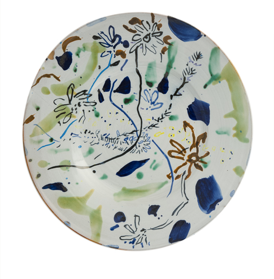 A World of Happy Days 6.5 x 40.5cm Large ceramic plate (slight crack) 1990 £3,500