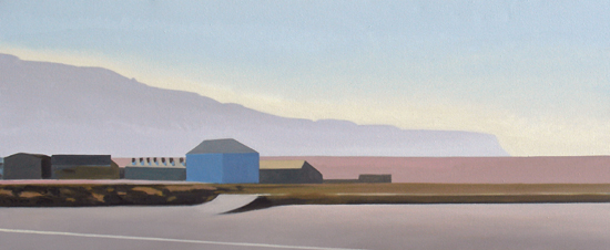 Alex Lowery Portland 84, 2011, 46x110cm,oil on canvas