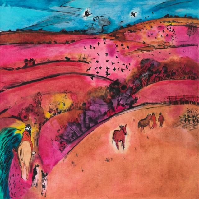 Park Farm 1998-9 oil on canvas 104 x 104 cm 41 x 41 inches POA