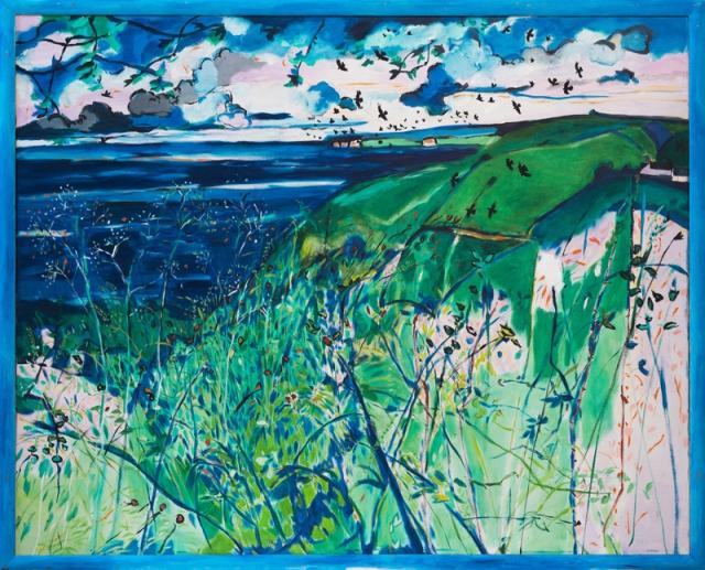Pembrokeshire 1990-91 oil on canvas 155 x 190 cm 61 x 75 inches POA