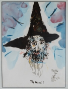 The Wizard! watercolour on paper 37 x 27 cm 14.5 x 10.5 inches