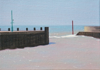 West Bay 274, 2013, 25x35cm, oil on flax