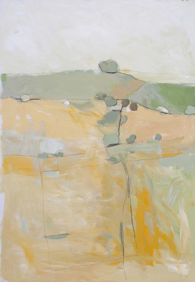 David O'Connor Along the Ridgeway-2014-57 x 41 cm-acrylic on board-£470