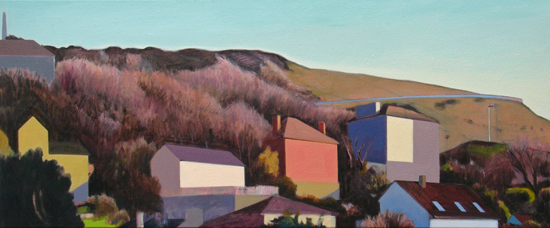 Alex Lowery  Portland 100, 2014, 50x120cm, oil on canvas