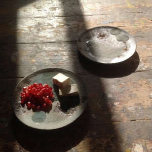 Akiko Hirai Rain Leak small plates AH29 and 30 16.5cm wide £88 each