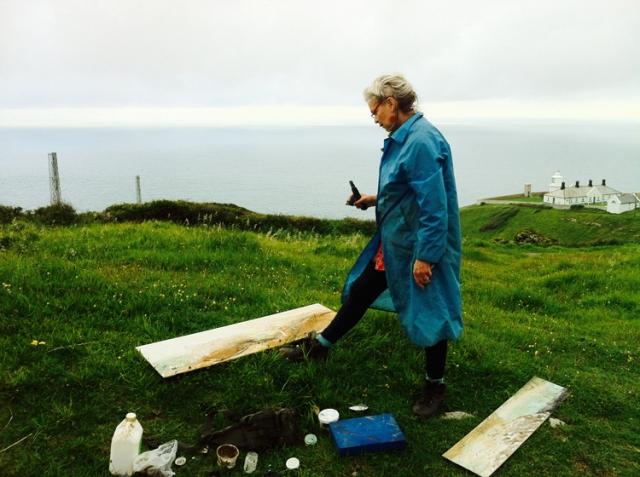 Frances Hatch working near Swanage