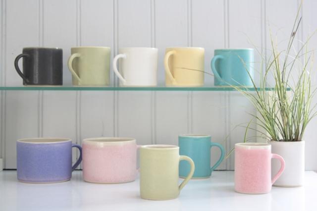 Mugs: large 7 x 9 cm £26, petit creme 6.5 x 7cm £21, espresso 7 x 5.5 cm £18