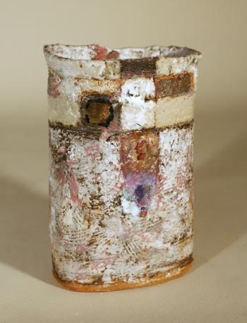 Robin Welch 12 Oval Vase pink flush 25 x 17 x 13cm £460