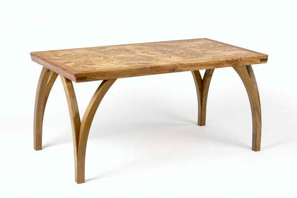 Wish Bone Burr Oak Low Table