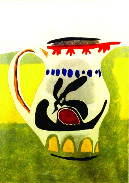 Tim Nicholson Jug  oil on paper 1999  84 x 60 cm