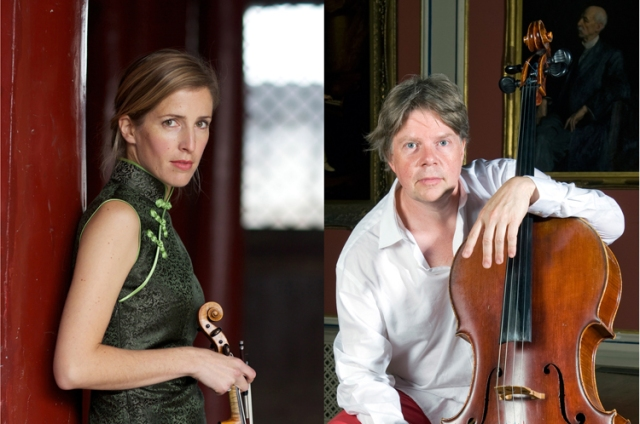 Mats Lidström, cello, and Philippa Mo violin