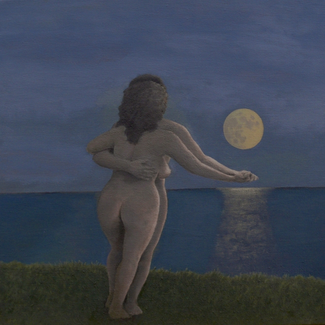Dancing Couple Naked by David Inshaw