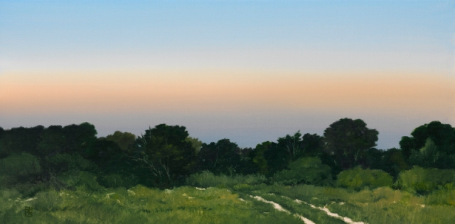 Michael Bennallack Hart  Landscape Before Dusk  40.5 x 81 cm oil on canvas