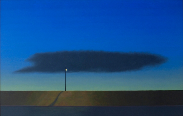 Stephen Jacobson  Dark Cloud  120cm wide  oil on board