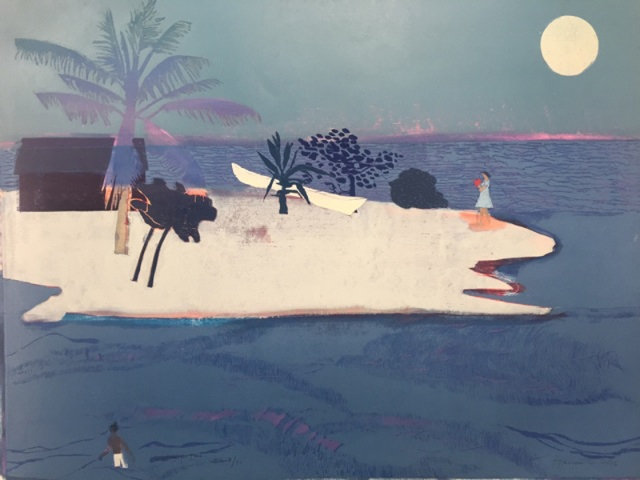 Tom Hammick 18. Waiting for Time  2016 edition variable reduction woodcut edition of 10  122 x 164 cm  48 x 65 inches  £9000 exc frame