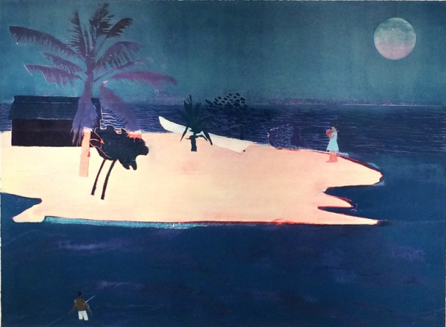 Tom Hammick 20. Waiting for Time 2016 edition variable reduction woodcut ev 5 of 10 122 x 163 cm £9000 exc frame