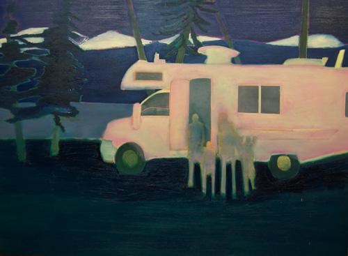 Tom Hammick 4.  Motorhome 2  2014  oil on canvas  143 x 211 cm  56 x 83 inches  POA