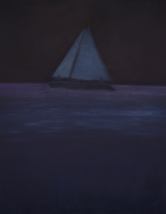 Tom Hammick 8. Through Phosphorescent Seas  2016  oil on canvas  137 x 107 cm  54 x 42 in £8500