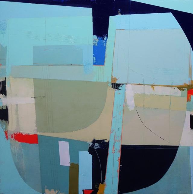 Arrival  Andrew Bird  60 x 60 cm  acrylic on canvas  £1000