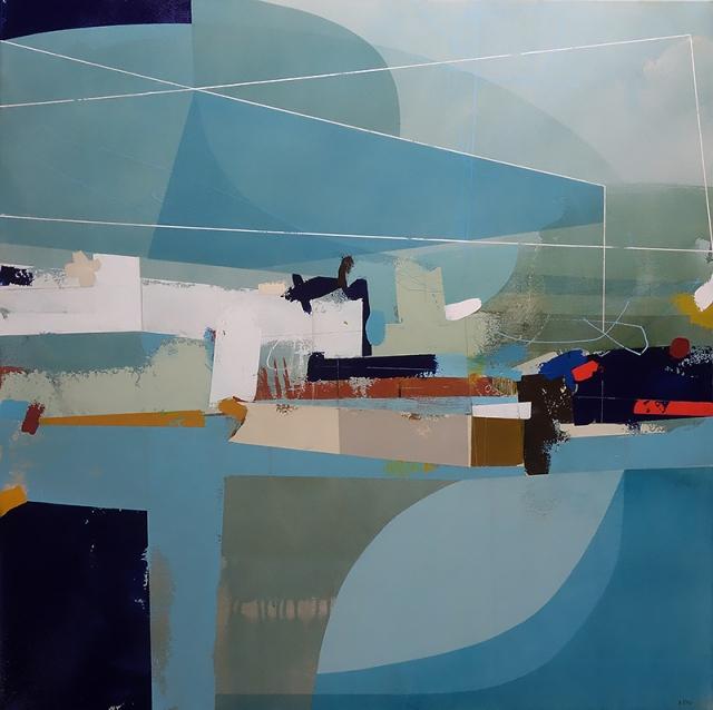 Paths of Light  Andrew Bird  86 x 86 cm  acrylic on canvas  £2500