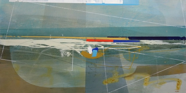 Time and Tide  Andrew Bird  30.5 x 61 cm  acrylic on board  £900