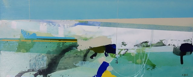 White Heights  Andrew Bird  16.5 x 40 cm  acrylic on board  £595