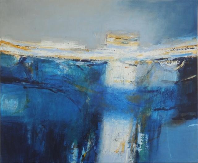 Martyn Brewster 19. Coastal Light I  acrylic on canvas  50 x 60 cm  2017  £3800