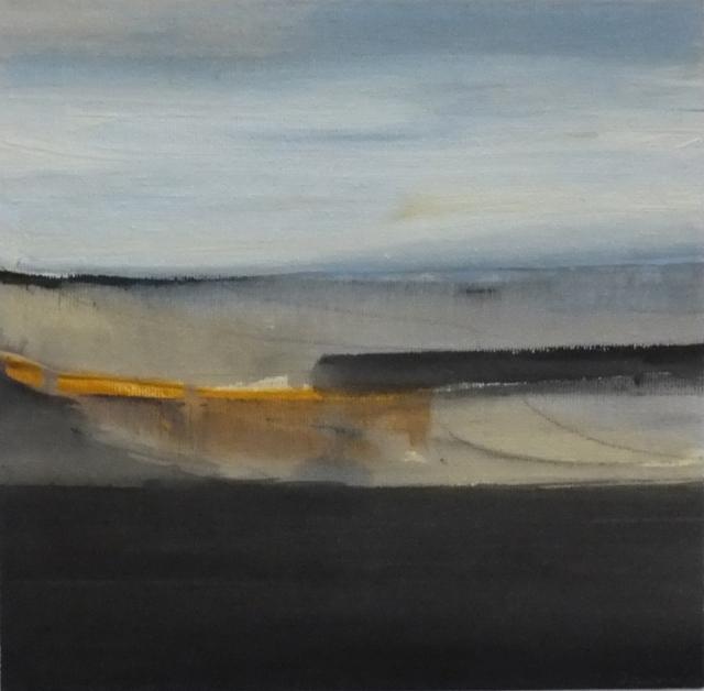 Martyn Brewster 37. Seascape 29  acrylic on canvas on board  2015  20 x 20 cm £650