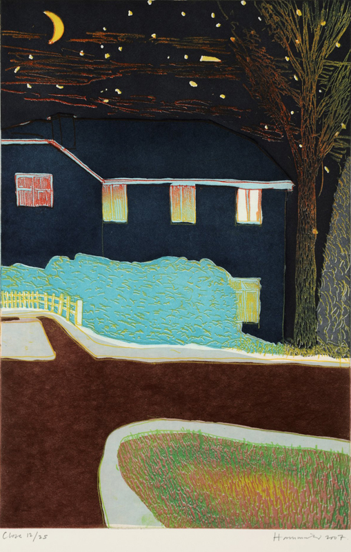 Tom Hammick Close 2007 edition variable etching with chine colle and hand colouring 76 x 57 cm edition of 25 framed £1275