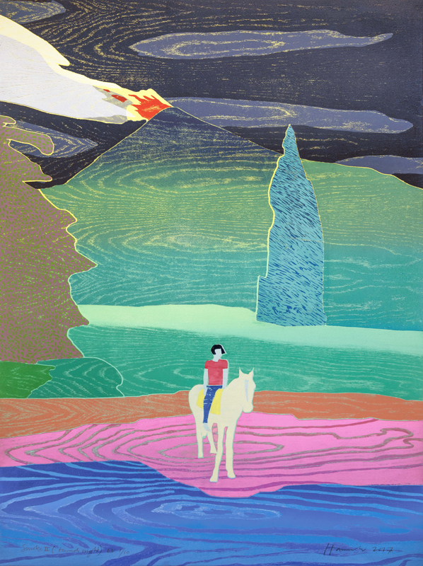 Tom Hammick Smoke II (Towards Night) 2017 reduction woodcut 121 x 90 cm edition of 10 £4570