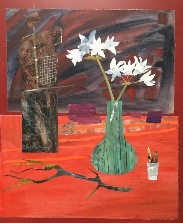 Marzia Colonna Sculpture and Amaryllis 120 x 100cm £8500