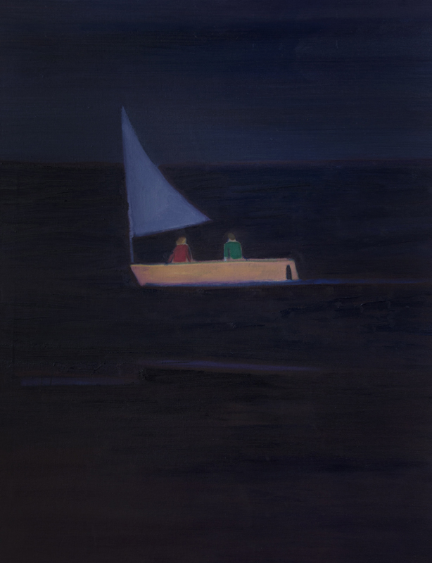 Tom Hammick Sailing into Port Clyde 2016 oil on canvas 108 x 86 cm £price on application