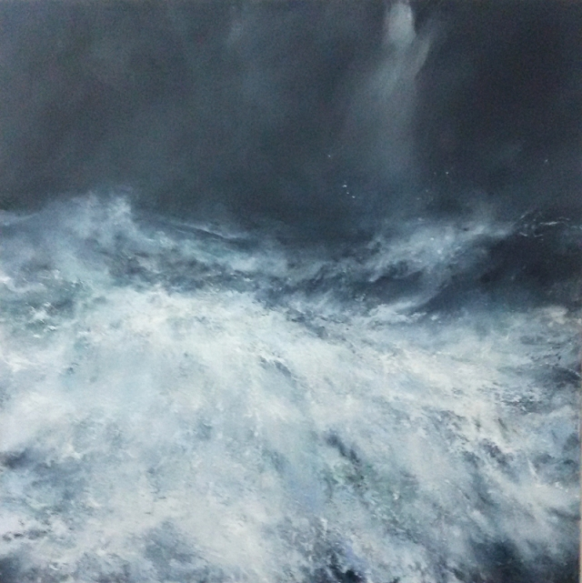 Janette Kerr arctic painting 150 x 150 cm