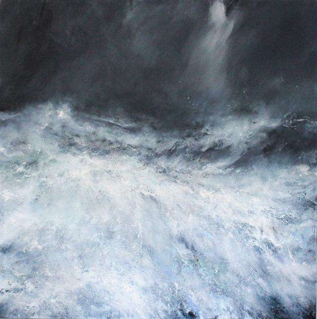 Janette Kerr Silence Vasahalvøya NW Svalbard 150 x 150 cm oil on canvas