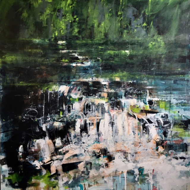 Anthony Garratt 1 Shipley Bridge 150 x 150 cm oil and acrylic on canvas £5800