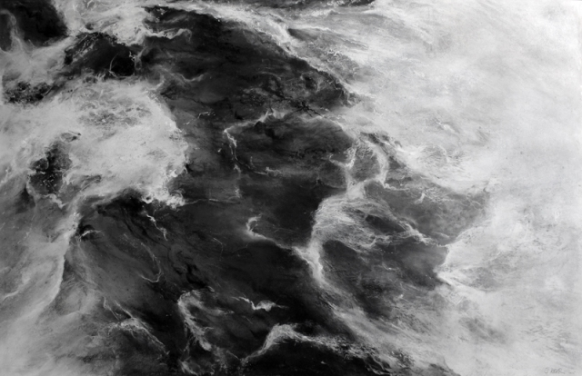 Janette Kerr  Flow  charcoal, chalk and graphite on cartridge paper  82 x 128 cm £9,500