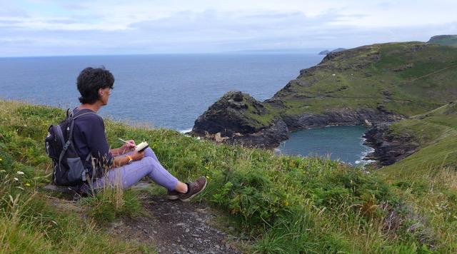 portrait on cliffs