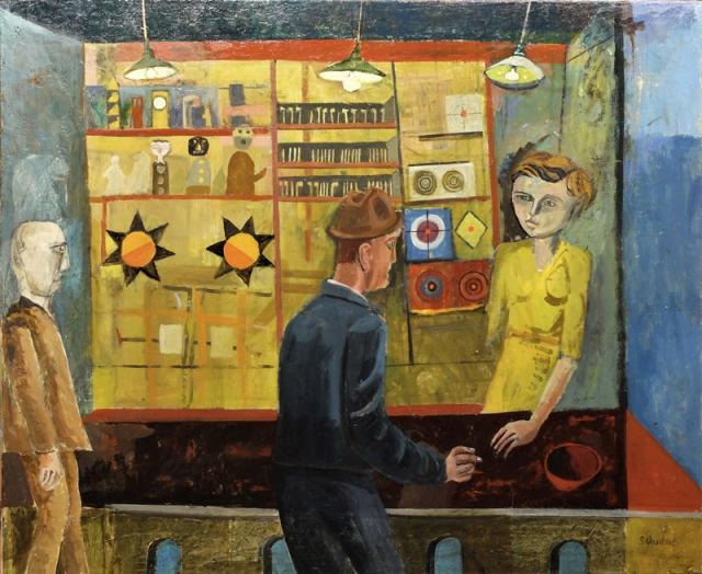 Simon Quadrat At the Fair 54 x 65 cm oil on canvas £3,800