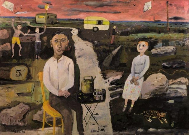 Simon Quadrat The Contented Couple 73 x 100 cm oil on canvas £6,800