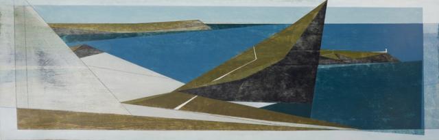 Vanessa Gardiner Winged Coast 1 acrylic on board 38 x 120 cm £4,800
