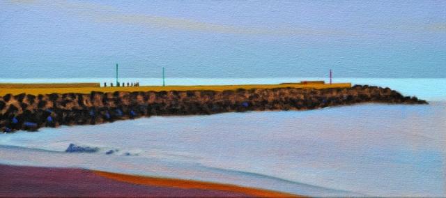 Alex Lowery West Bay 306 2018 25x55cm oil on canvas