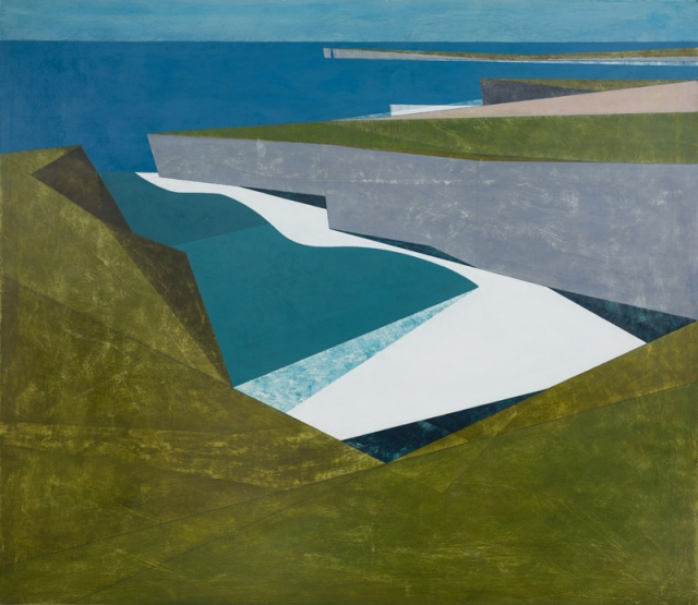 Vanessa Gardiner Wave Line 3 acrylic on board 107 x 122 cm