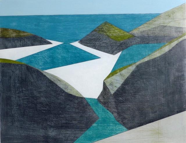 Vanessa Gardiner Inlet acrylic on plywood 28 x 35 cm