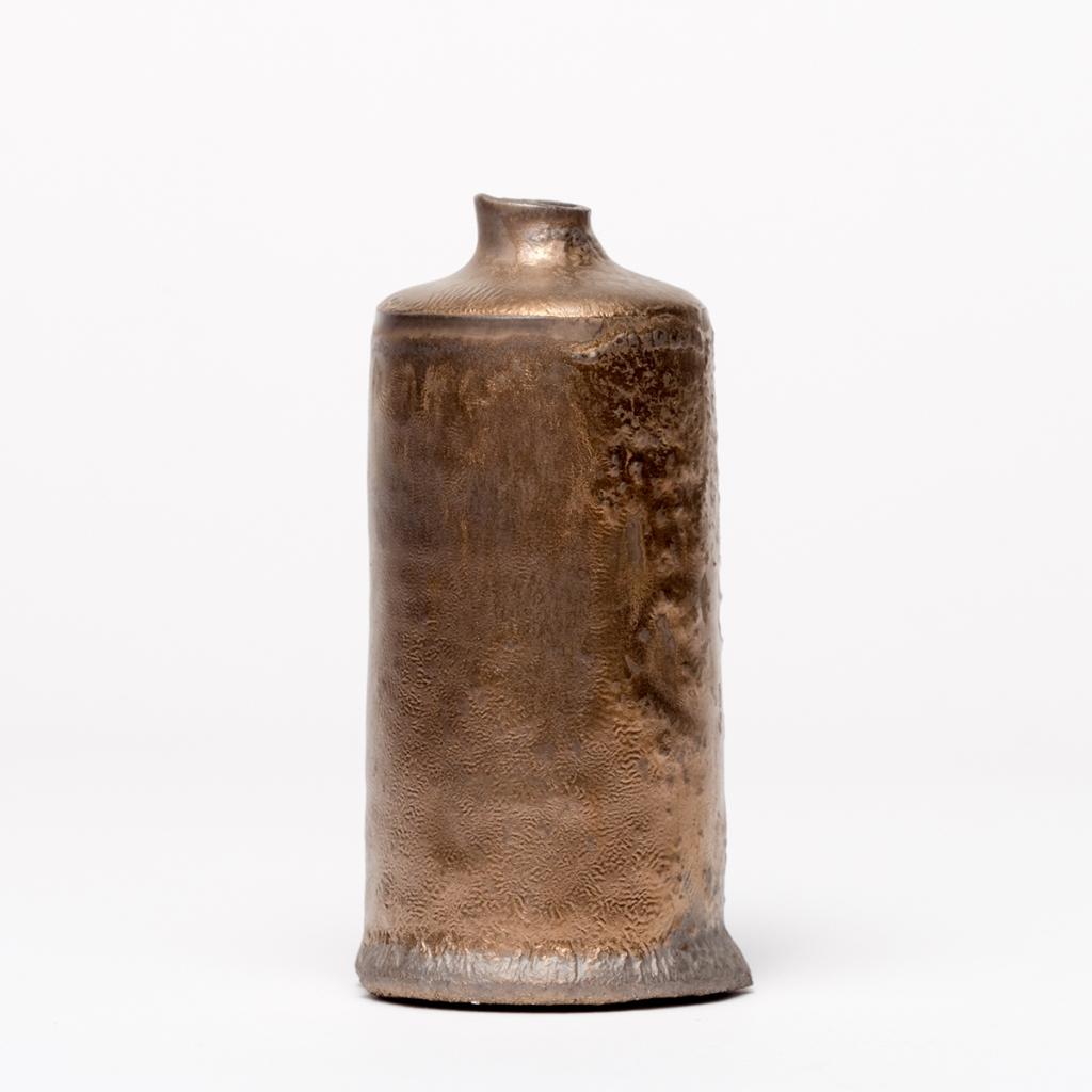 Franny Owen 20. Gold stoneware bottle 11h x 5.5cm dia £42