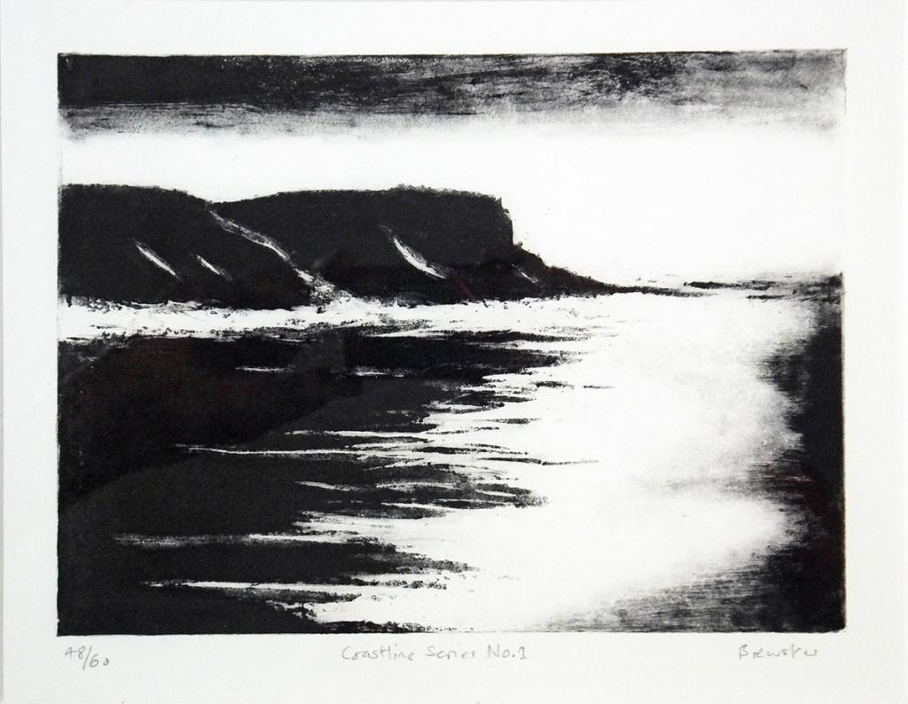 Coastline Series No.1 St Aldhelm's Head etching (ed. 48/60) 15 x 20 cm framed £260