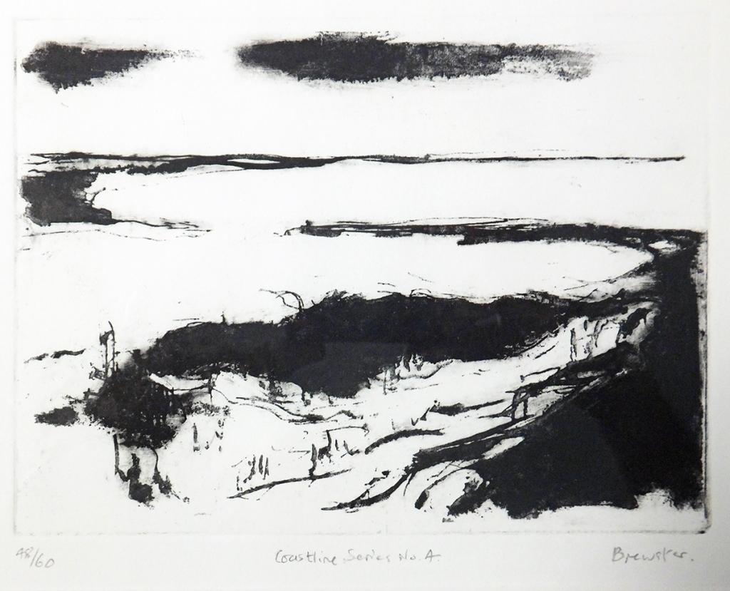 Coastline Series No.4, Hengistbury Head Looking East etching (ed. 48/60) 15 x 20 cm  framed £260