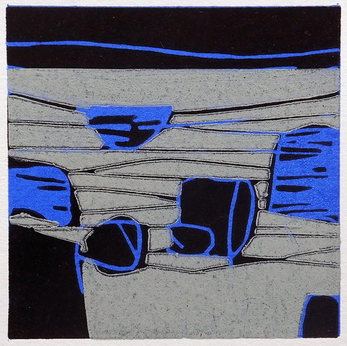 Coastline No.5 linocut ed.50 image 10 x 10 cm unframed £120
