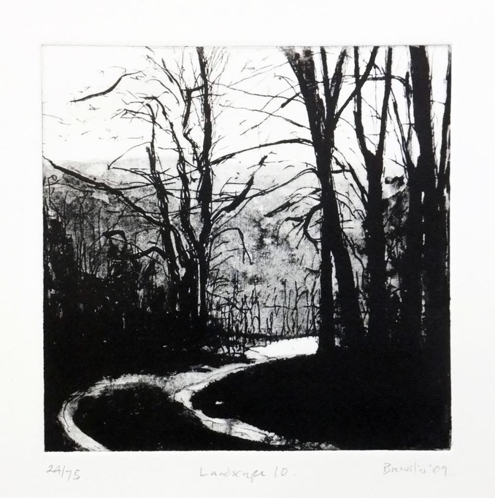 Landscape 10 etching (ed. 24/75) 14.5 x 14.5cm framed £260