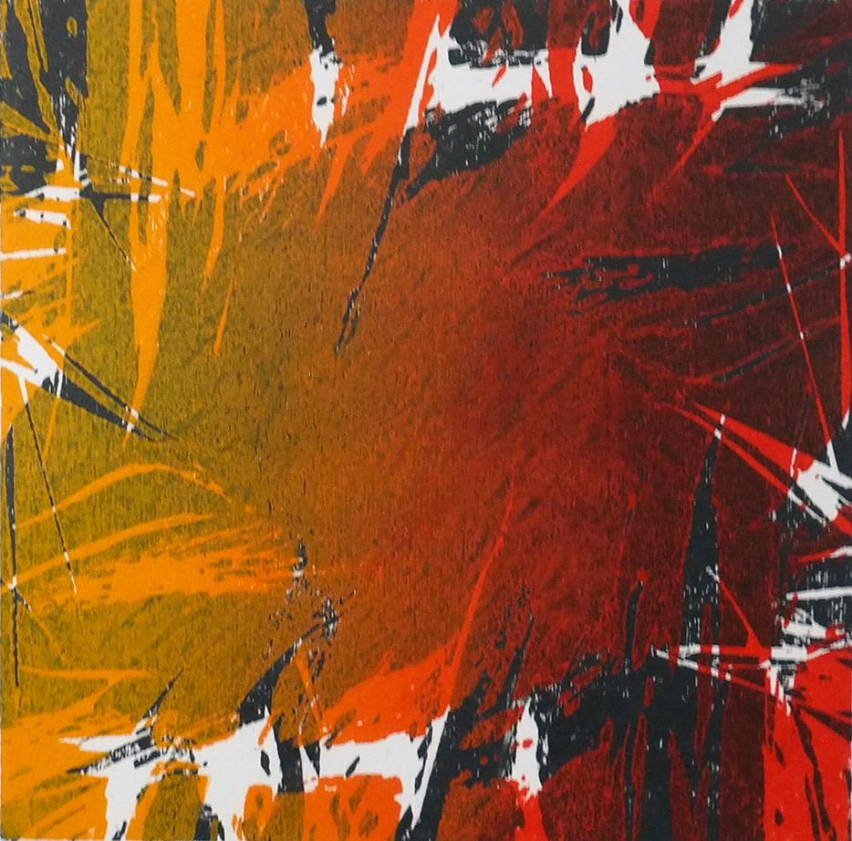 Lightfall Woodcut ed. 40 20 x 20 cm unframed £290 (framed £360 37 x 37 cm)